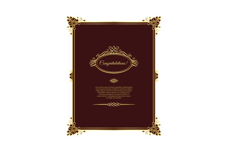 vintage-golden-template-on-dark-red