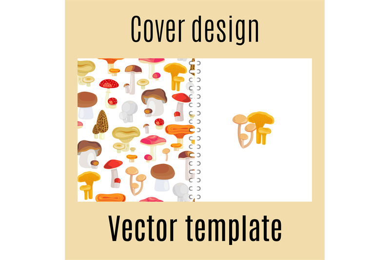 cover-design-with-forest-mushrooms-pattern
