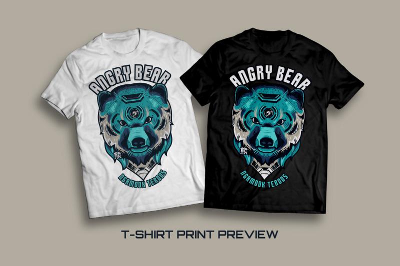 angry-bear-t-shirt-illustration