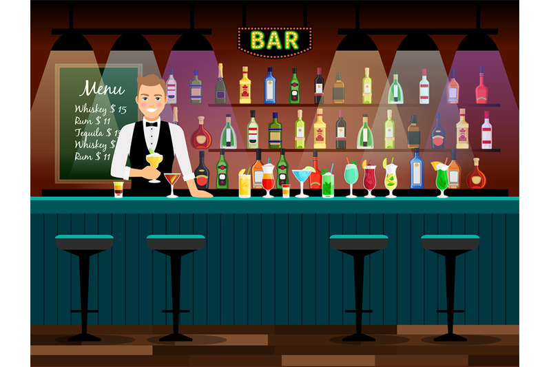 bar-counter-with-bartender