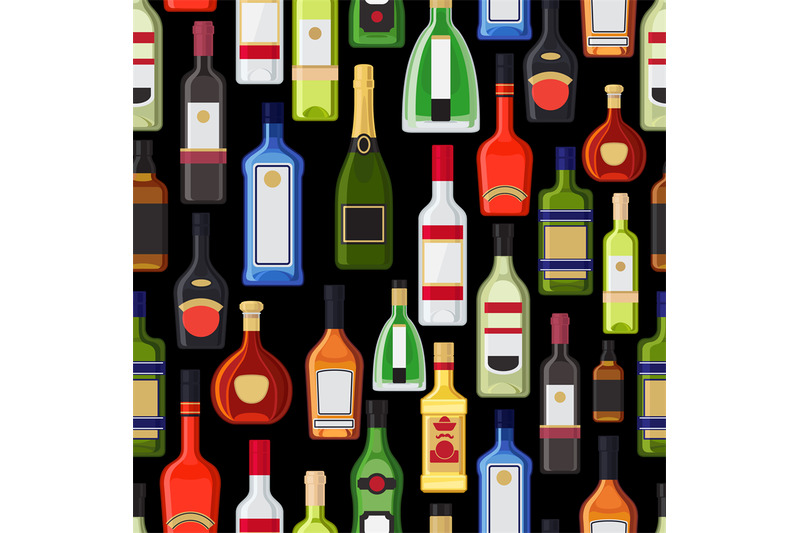 alcohol-bottles-colorful-pattern
