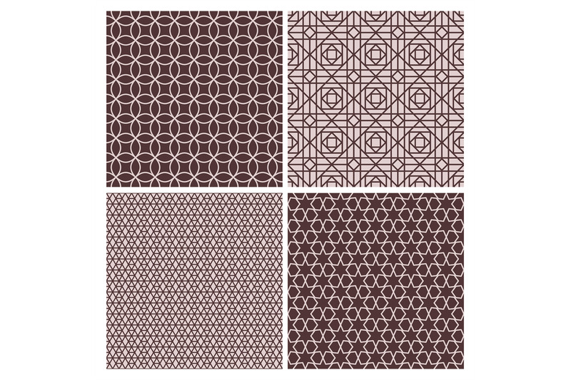 oriental-rose-and-brown-decorative-patterns
