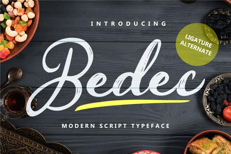 bedec-modern-script-typeface