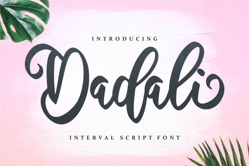dadali-interval-script-font