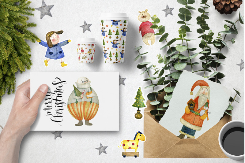 watercolor-christmas-toys