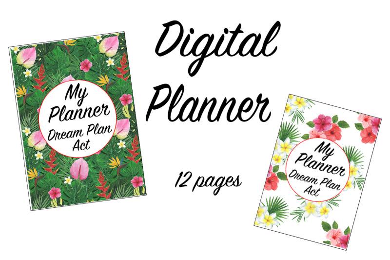 tropics-digital-watercolor-planner