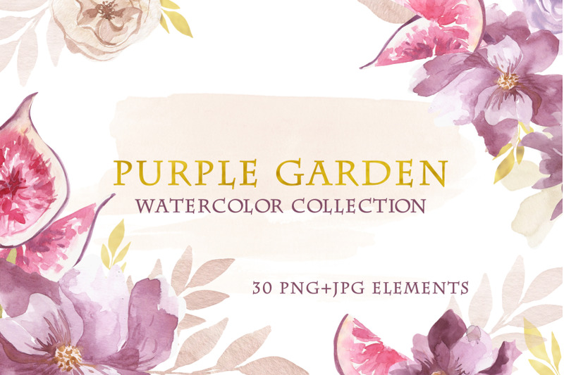watercolor-purple-garden-set