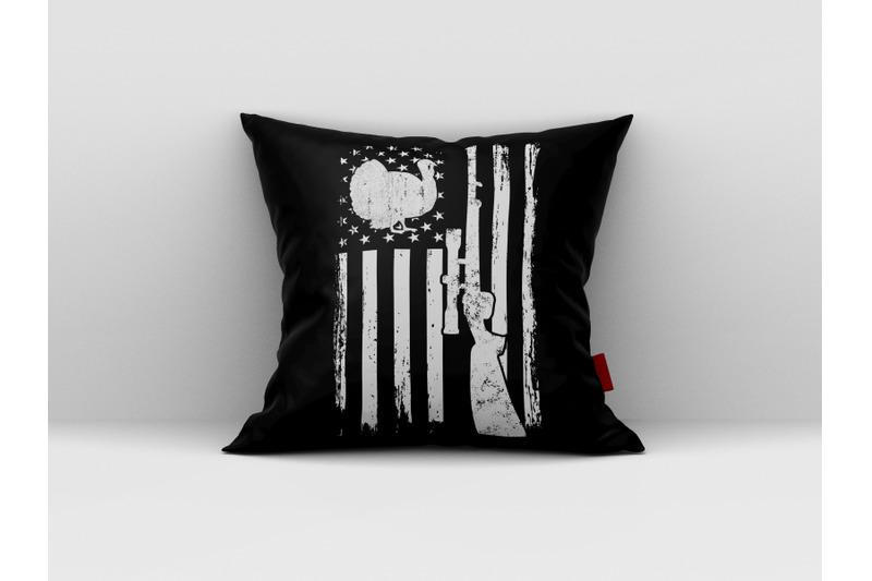 Turkey Hunting Svg Hunting Distressed American Flag Usa Flag By