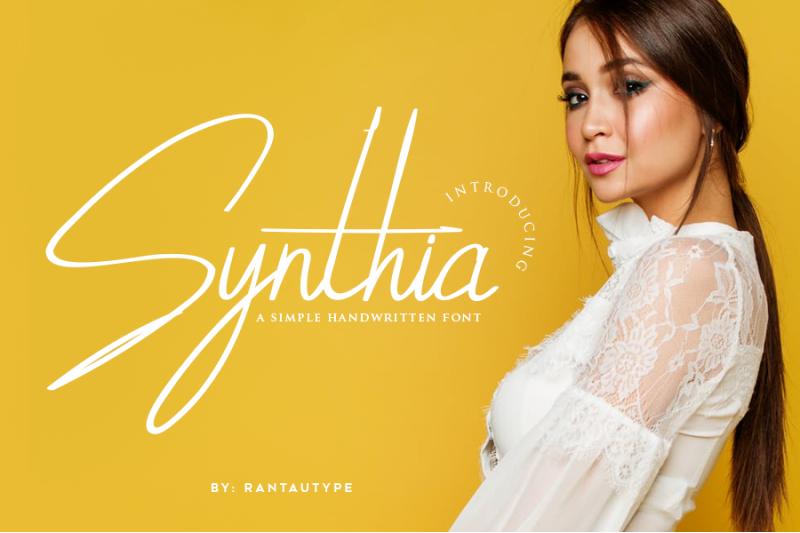 synthia-handwritten-font