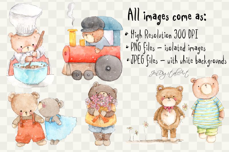 cute-watercolor-bears-6-png-jpeg-illustrations