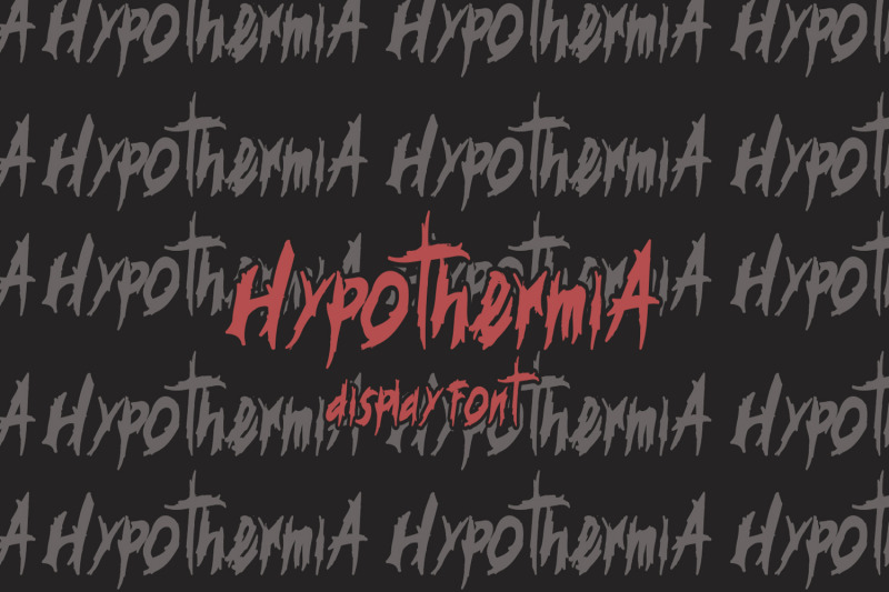 hypotermia-display-font
