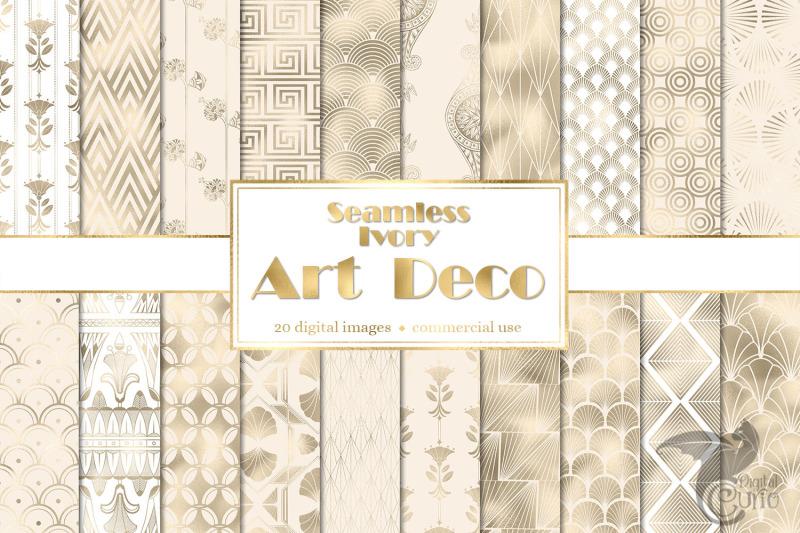 ivory-art-deco-digital-paper
