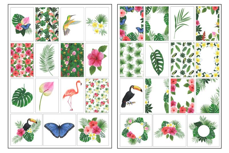 stickers-printable-watercolor-tropics