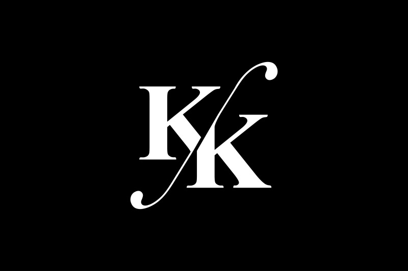 kk-monogram-logo-design