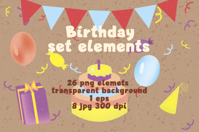set-birhday-elements-illustration