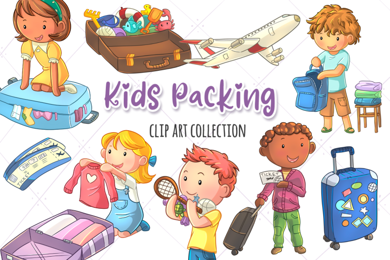 kids-packing-clip-art-collection