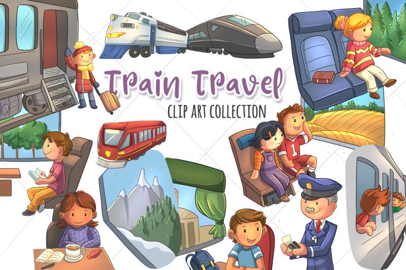 train-travel-clip-art-collection
