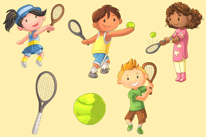 playing-tennis-clip-art-collection