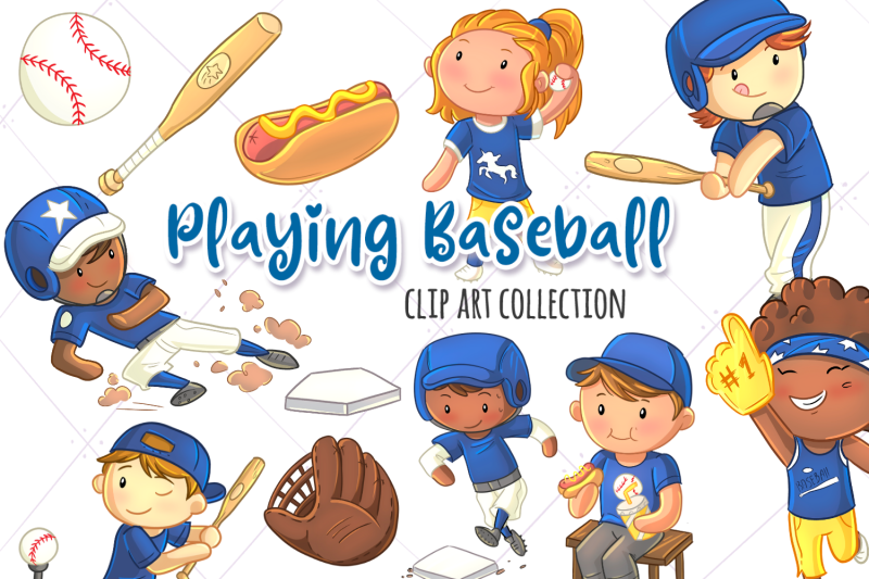 playing-baseball-clip-art-collection