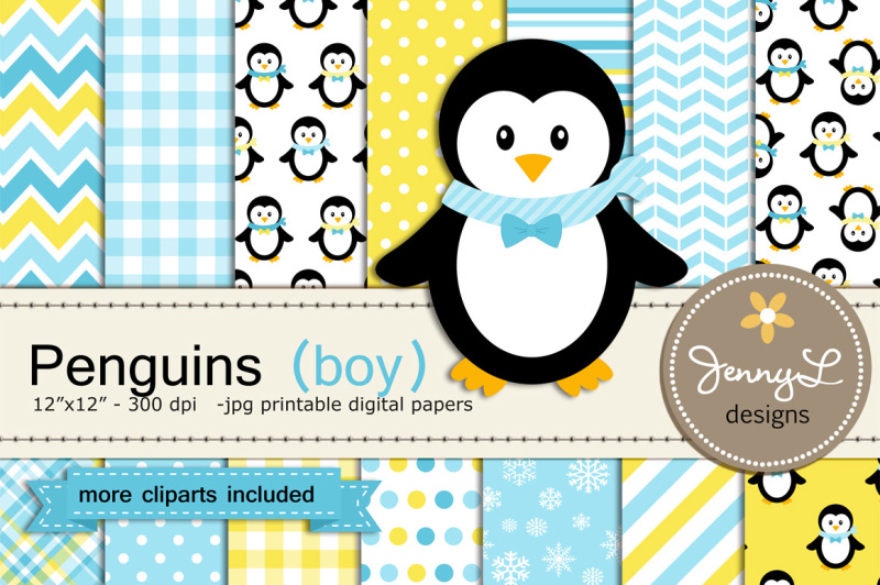 penguin-boy-digital-paper-and-clipart