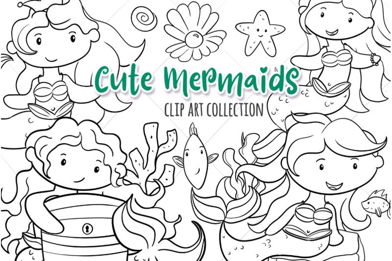 cute-mermaids-digital-stamps