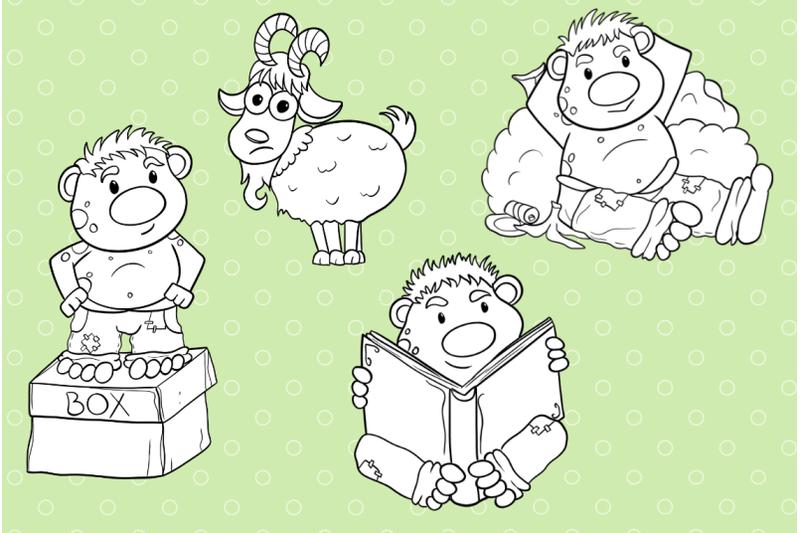 funny-trolls-digital-stamps