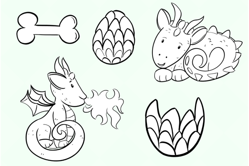 cute-dragons-digital-stamps