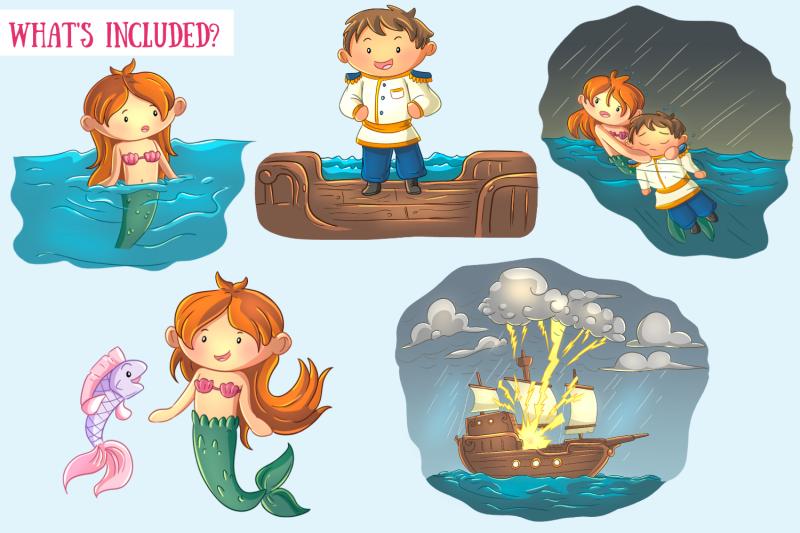 little-mermaid-clip-art-collection
