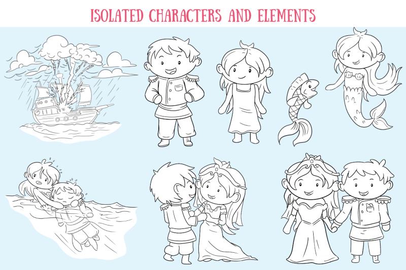 little-mermaid-digital-stamps