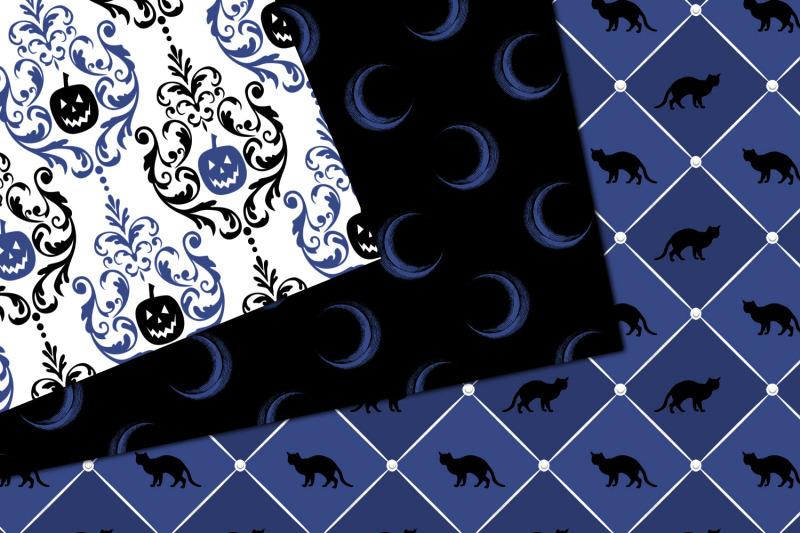 blue-halloween-digital-paper