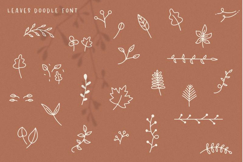 falling-leaves-script-amp-print-font-trio