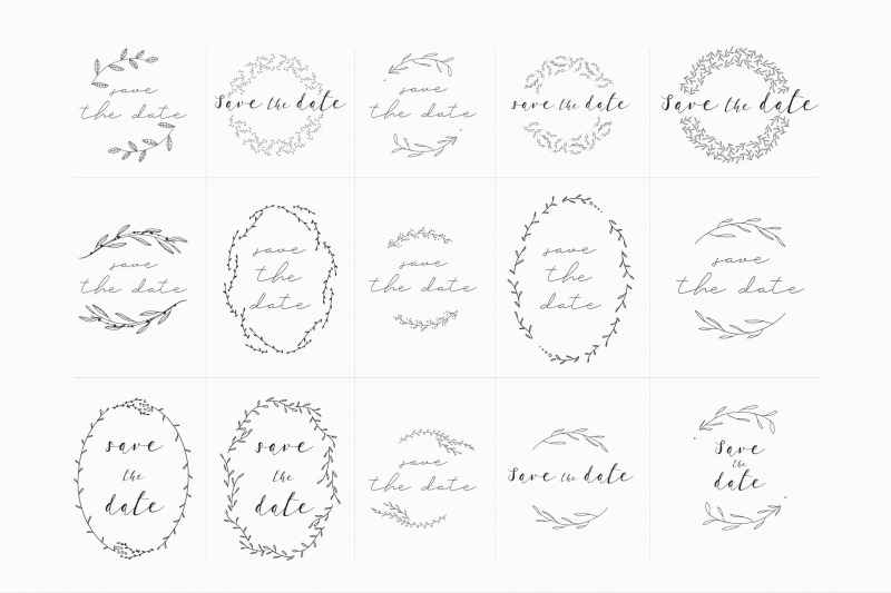 save-the-date-premade-wreath-logos