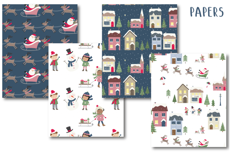 holiday-village-paper
