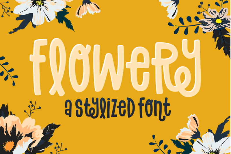 flowery-font
