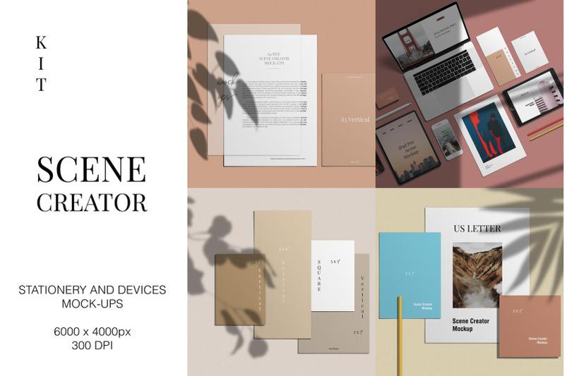 Free Scene Creator Mockup Kit (PSD Mockups)
