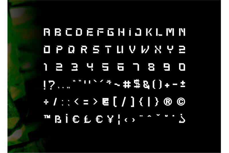 bathalyon-army-modern-display-font