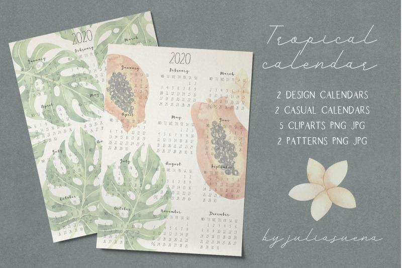 printable-tropical-calendar-2020