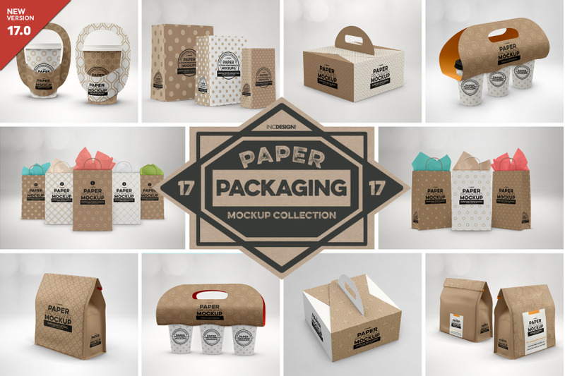 Free VOL 17. Paper Box Packaging Mockup Collection (PSD Mockups)