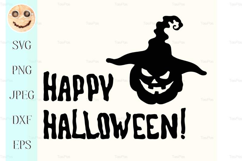 happy-halloween-title-and-witch-hat-pumpkin-lantern