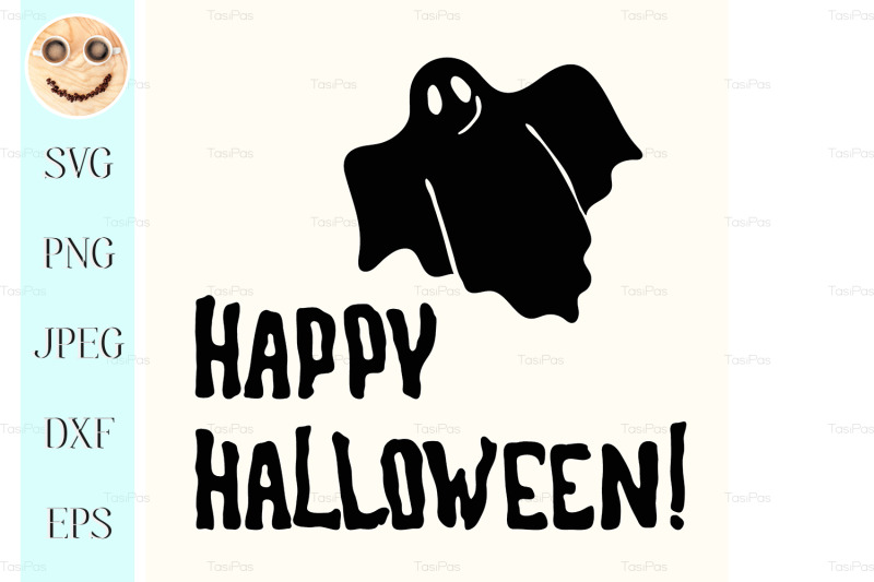 happy-halloween-title-and-ghost-on-the-white-nbsp