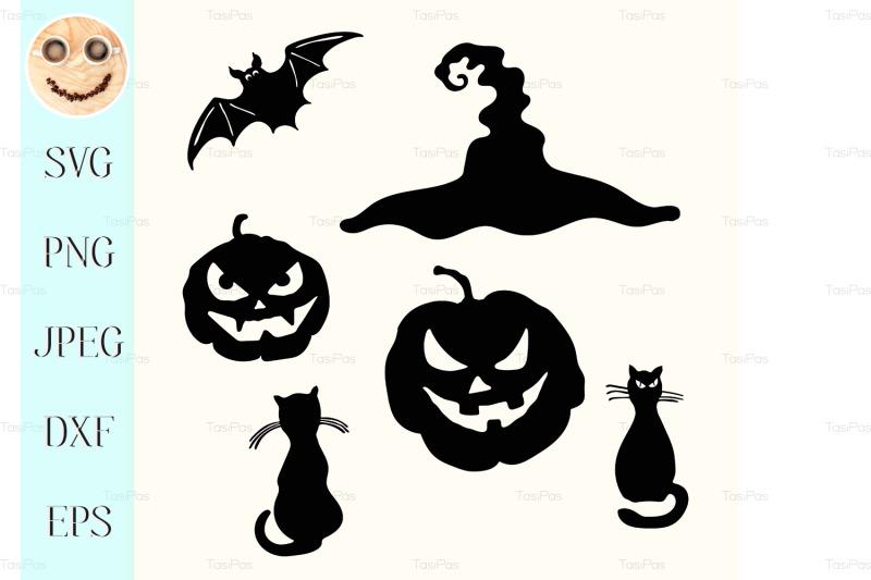 halloween-pumpkin-lantern-black-cat-witch-hat-bat-stencil