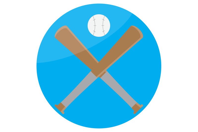 icon-baseball-design-flat