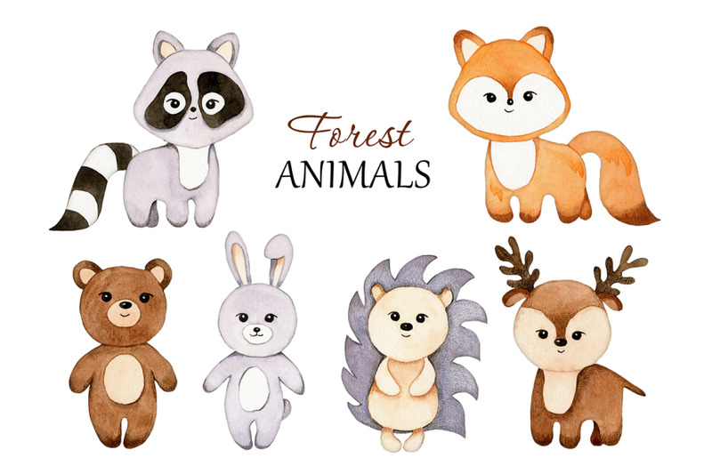 watercolor-forest-animals