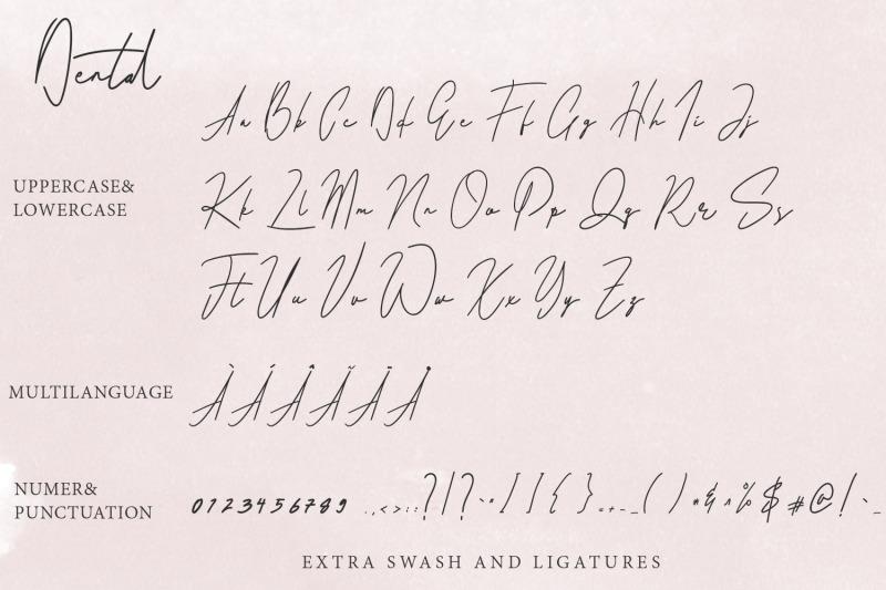dental-signatures-font