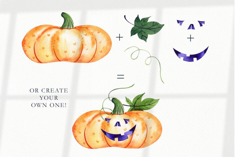 watercolor-halloween-pumpkins-set