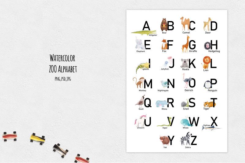 watercolor-zoo-alphabet-png-jpeg-psd