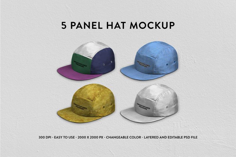 Free Five Panels Mockup (PSD Mockups)