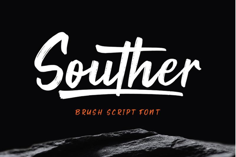 souther-brush-script-font