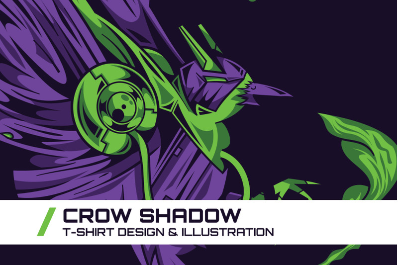 crow-shadow-t-shirt-illustration