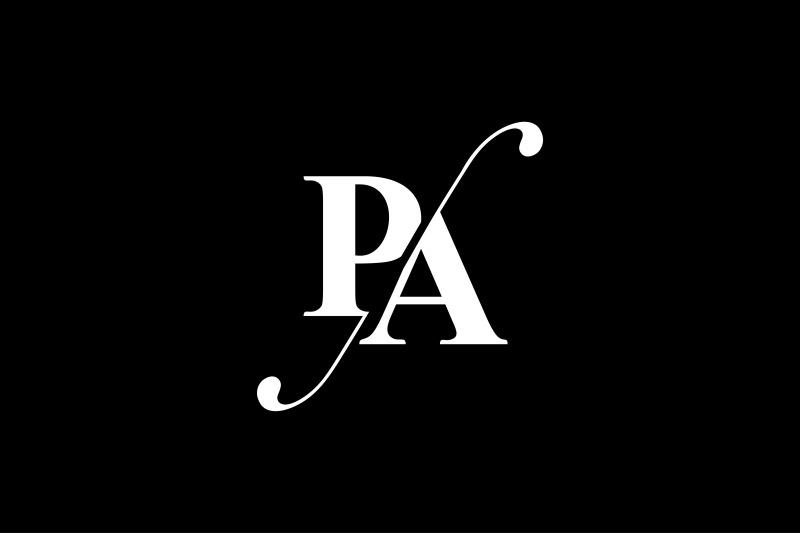 pa-monogram-logo-design